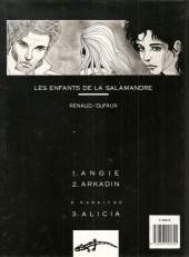 Verso de Les enfants de la Salamandre -2a1989- Arkadin