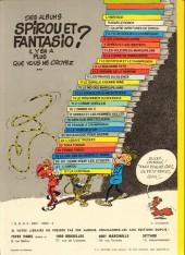 Verso de Spirou et Fantasio -20b1976- Le faiseur d'or