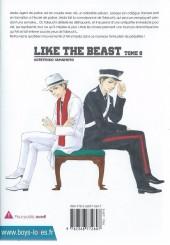 Verso de Like the Beast -8- Tome 8