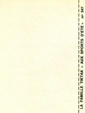 Verso de Famille Tiktak -2MR1786- Aux sports d'été