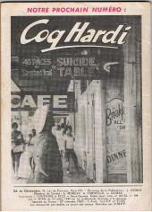 Verso de Coq Hardi (1e Série) -2- Existe-t-il encore en 1961 des peaux-rouges ?