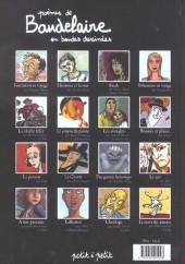 Verso de Poèmes en bandes dessinées - Poèmes de Baudelaire en bandes dessinées