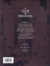Verso de Le club des prédateurs -1- The Bogeyman