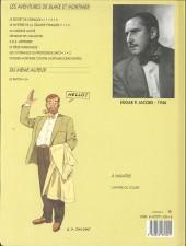 Verso de Blake et Mortimer (Les Aventures de) -2b1992- Le Secret de l'Espadon - Tome 2