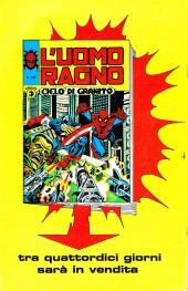 Verso de L'uomo Ragno V1 (Editoriale Corno - 1970)  -141- Buia notte a San Francisco