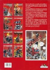 Verso de Les pompiers -6a2008- Un homme et une flamme
