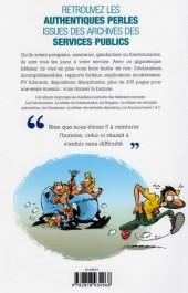 Verso de L'anthologie des perles de l'administration - Anthologie des perles de l'administration (l')