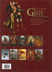 Verso de La geste des Chevaliers Dragons -2a2010- Akanah