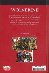 Verso de Marvel Comics : Le meilleur des Super-Héros - La collection (Hachette) -3- Wolverine