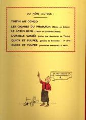 Verso de Tintin (Fac-similé N&B) -3a- Tintin en Amérique