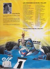 Verso de Michel Vaillant -8f1997- Le 8e pilote