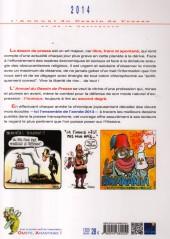 Verso de L'almanach du Dessin de Presse et de la Caricature -2014- L'Almanach du Dessin de Presse et de la Caricature