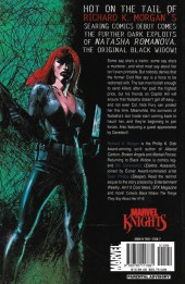 Verso de Black Widow : The things they say about her (Marvel - 2005) -INT- The Things They Say About Her