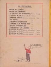 Verso de Tintin (Historique) -11A23- Le secret de la Licorne