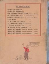Verso de Tintin (Historique) -10A23- L'éroile mystérieuse