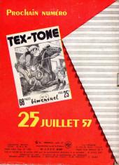 Verso de Tex-Tone -5- Vainqueur de la course de chariots