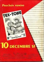 Verso de Tex-Tone -14- Tex-tone champion du tir