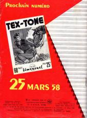 Verso de Tex-Tone -21- Ceux de Fort-Calamity