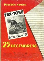 Verso de Tex-Tone -39- Drame à Amarillo