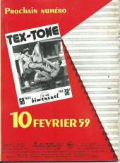 Verso de Tex-Tone -42- Le marshal escroc