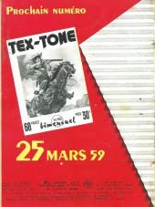 Verso de Tex-Tone -45- Fureur à l'ouest