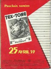 Verso de Tex-Tone -47- Tex-tone contre Rocky le jaune