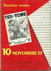 Verso de Tex-Tone -60- Tex-tone contre les troubles fête