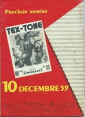 Verso de Tex-Tone -62- Le rapt de Tommy