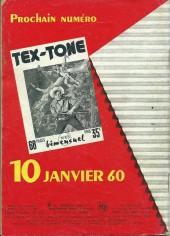 Verso de Tex-Tone -64- Les élections
