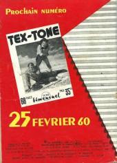 Verso de Tex-Tone -67- Coups de feu dans l'eau