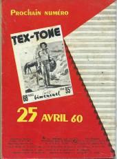 Verso de Tex-Tone -71- L'école des champions