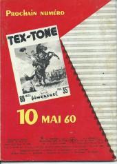 Verso de Tex-Tone -72- Les totems parlants