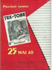 Verso de Tex-Tone -73- Ceux du clan du soleil