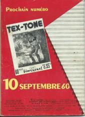 Verso de Tex-Tone -80- Coup fatal!