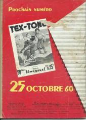 Verso de Tex-Tone -83- L'heure de la vengeance