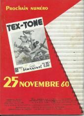 Verso de Tex-Tone -85- Fouilles aux ruines de Musheenagui