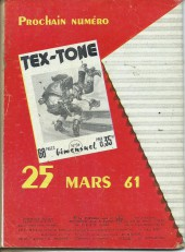 Verso de Tex-Tone -93- La course au testament