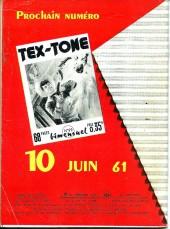Verso de Tex-Tone -98- La montagne de feu