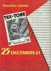 Verso de Tex-Tone -111- La mauvaise route...