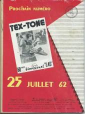 Verso de Tex-Tone -125- La rançon