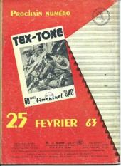 Verso de Tex-Tone -139- Jour de fête à Casa-Diego