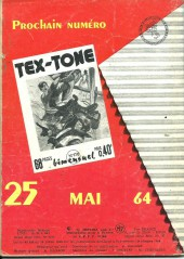 Verso de Tex-Tone -169- Une caisse vide