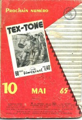 Verso de Tex-Tone -192- L'étalon maudit