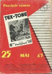 Verso de Tex-Tone -241- Projet