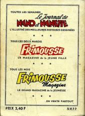 Verso de Frimousse et Frimousse-Capucine -Rec19- Album N°19 (du n°101 au n°106)