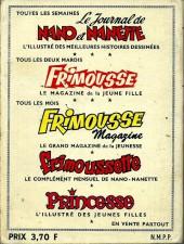 Verso de Frimousse et Frimousse-Capucine -Rec24- Album n°24 (du 131 au 136)