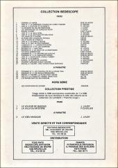 Verso de Michel et Thierry -2(1)- Une tuyère pour Eurydice