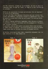Verso de D'encre et de sang -HS3- Bruxelles sous l'Occupation