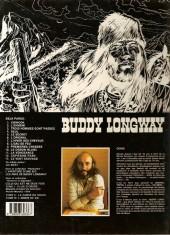 Verso de Buddy Longway -7b84- L'hiver des chevaux