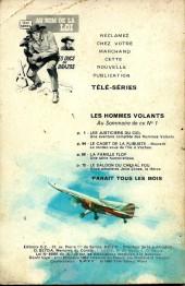 Verso de Télé série bleue (Les hommes volants, Destination Danger, etc.) -1- Les hommes volants - Les justiciers du ciel